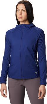 Mountain Hardwear Kor Preshell Women's Hoodie Jacket L Dark Illusion